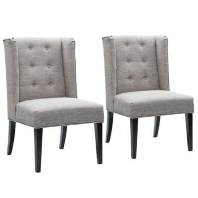 Madison Park Blakely Dining Chairs Light Grey (Set of 2)