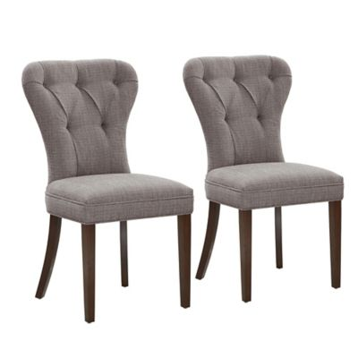 Madison Park Jules Dining Chairs in Cream (Set of 2)