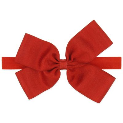 Capelli New York Infant Ribbon Bow Headwrap in Red