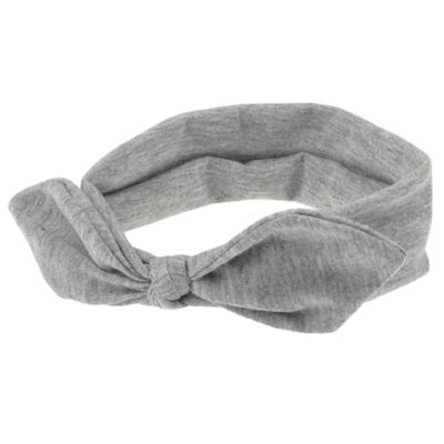 Capelli New York Infant Knot Jersey Head Wrap in Heather Grey