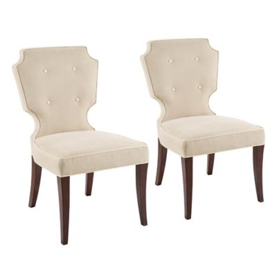 Madison Park Camille Dining Chairs in Cream (Set of 2)