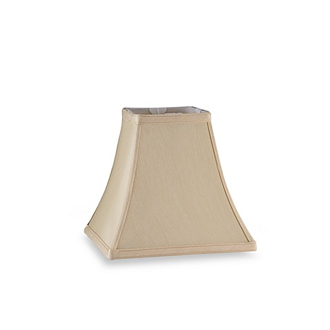 Mix & Match Small 11-Inch Square Bell Lamp Shade in Ivory