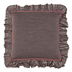 Beekman 1802 Bellvale Applique Square Throw Pillow in Plum