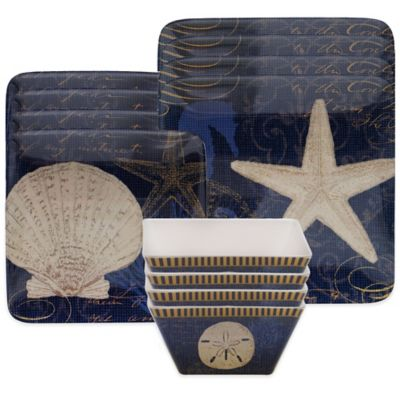 Certified International Coastal Moonlight 12-Piece Dinnerware Set