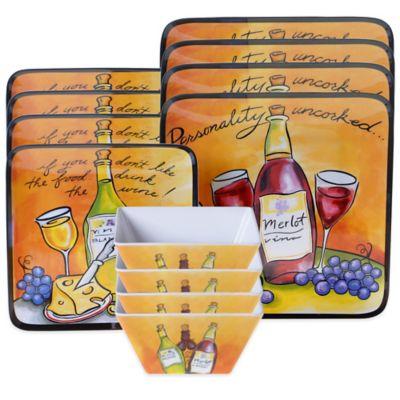 Certified International Wine Picnic 12-Piece Dinnerware Set