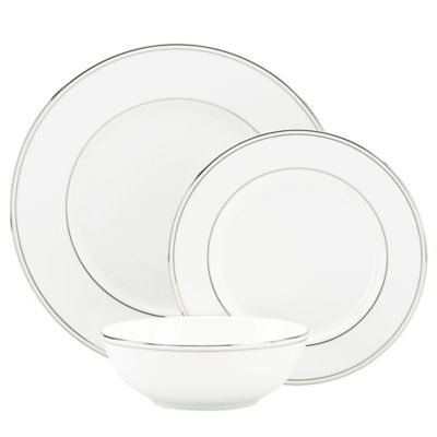 Lenox® Federal Platinum 3-Piece Place Setting with All Purpose Bowl