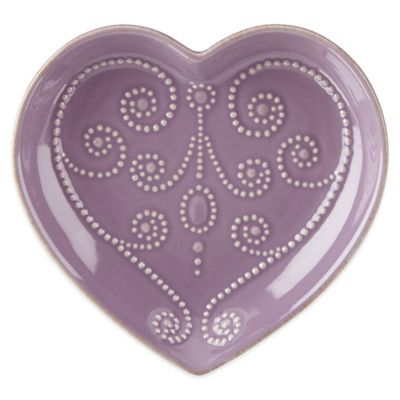 Lenox® French Perle™ Heart Dish in Lavender