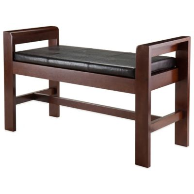 Winsome Trading Thomas Bench with Seat Cushion