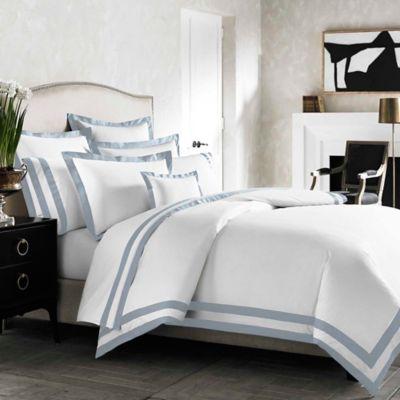 Kassatex Amalfi Italian-Made Standard Pillow Sham in White/Light Blue