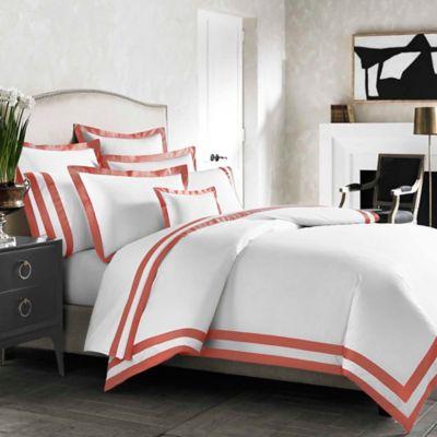 Kassatex Amalfi Italian-Made Standard Pillow Sham in Paprika