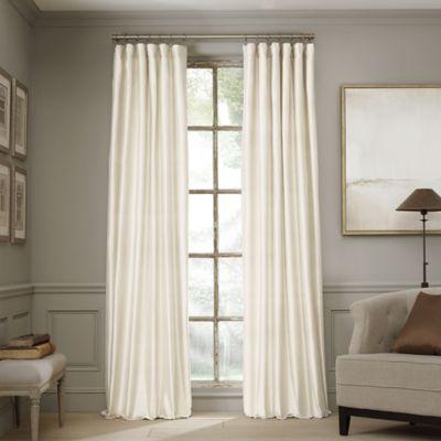 Valeron Estate 84-Inch Silk Window Curtain Panel in Ivory