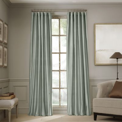 Valeron Estate 108-Inch Silk Window Curtain Panel in Blue