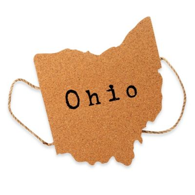 Thirstystone® Ohio State Shaped Cork/Rope Trivet in Natural