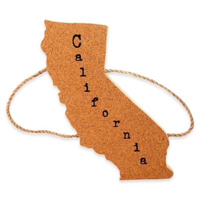 Thirstystone® California State Shaped Cork/Rope Trivet in Natural