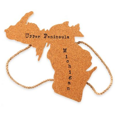 Thirstystone® Michigan State Shaped Cork/Rope Trivet in Natural