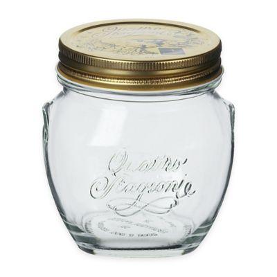 Bormioli Rocco Quattro Stagioni 10 oz. Amphora Canning Jar in Clear