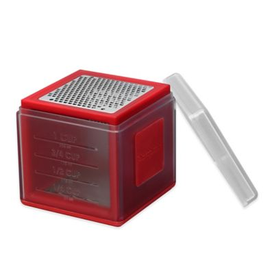 Microplane® Stainless Steel Container Grater in Red