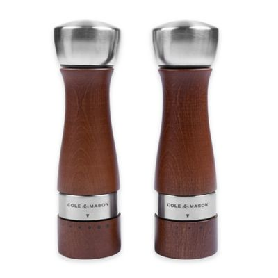 Cole & Mason Oldbury Salt and Pepper Gift Set in Walnut