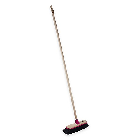 casabella u00ae basic wood push broom bed bath   beyond Broom Horse Push Broom Handle
