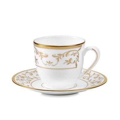Gold Espresso Cups and Saucers