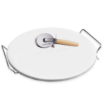 Sharper Image® Pizza Stone and Pizza Cutter Set