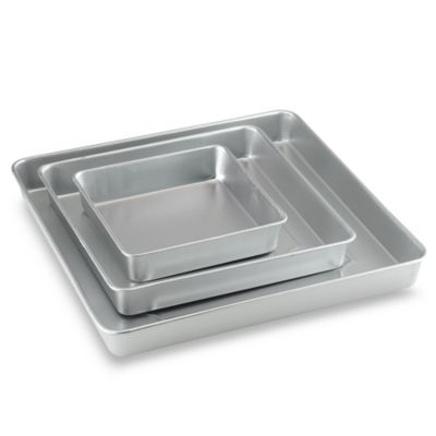 Cake Decorating Kit Bed Bath Beyond : Wilton  3-Piece Square Cake Pan Set - Bed Bath & Beyond
