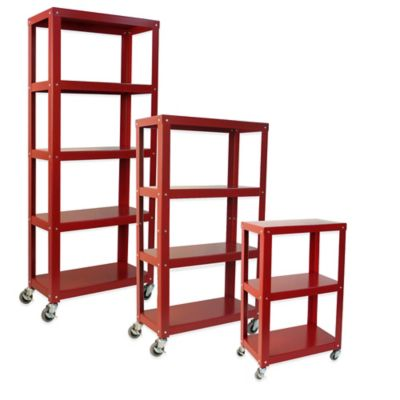 Studio 3B™ 3-Tier Metal Shelving in Red