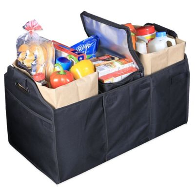 Deluxe Trunk Organizer with Removable Cooler in Black