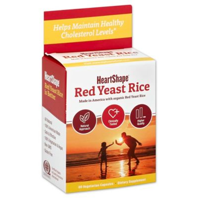 HeartShape® 60-Count Organic Red Yeast Rice