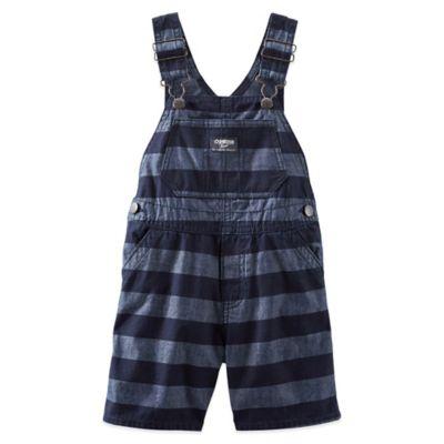 OshKosh B'gosh® Chambray Shortall in Blue Stripe