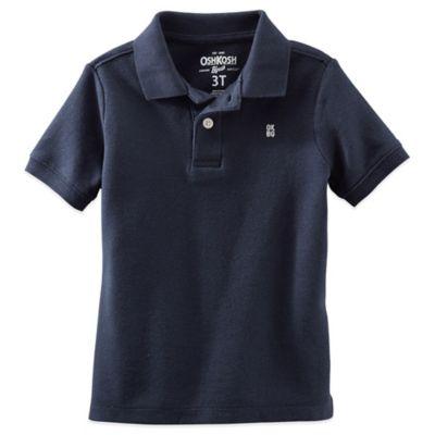 OshKosh B'gosh® Size 2T Short Sleeve Polo Shirt in Navy