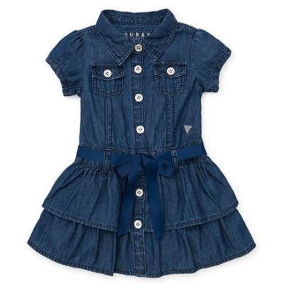 Guess® Size 4T Double Tier Denim Dress