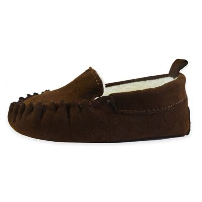 Size 3 Moccasin Slipper in Brown