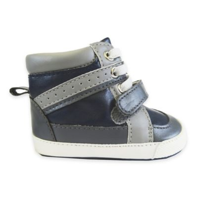 Rising Star™ Size 1 High Top Sneaker in Navy/Grey