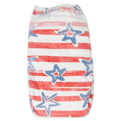 Honest 22-Pack Size 6 Diapers in Stars & Stripes Pattern