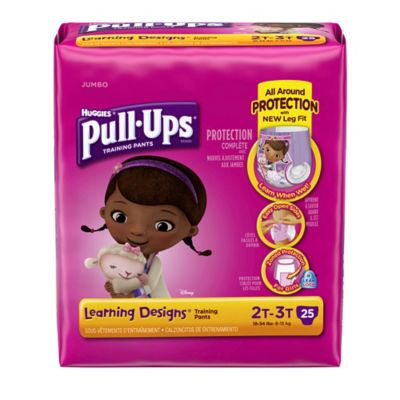 Pull-Ups® Learning Designs® Jumbo 25-Count Disposable Girl's 2T in 3T Training Pants