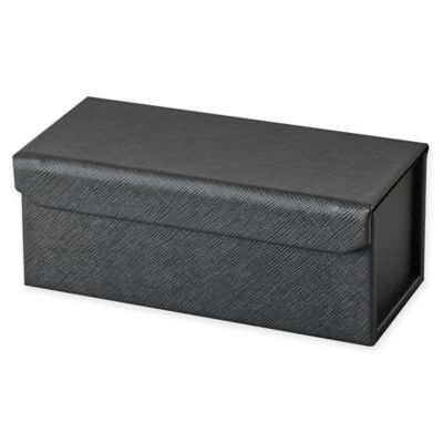 Saffiano Small Accessory Case in Black