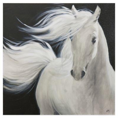 Ren-Wil White Stallion II Canvas Wall Art