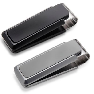 M-Clip Ultralight Solid Aluminum Heat Tempered Spring Money Clip in Black