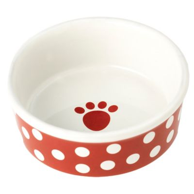 Petrageous® Poppy Dots Pet Bowl in Black