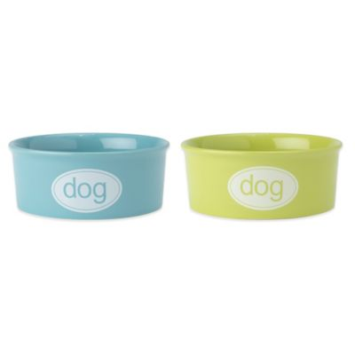 Petrageous® 3-Cup Kool Dog Food Bowl in Lime Green