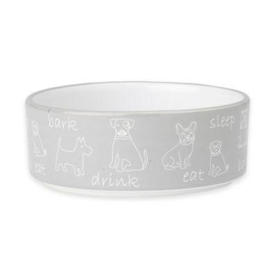 Grey White Pet Bowls