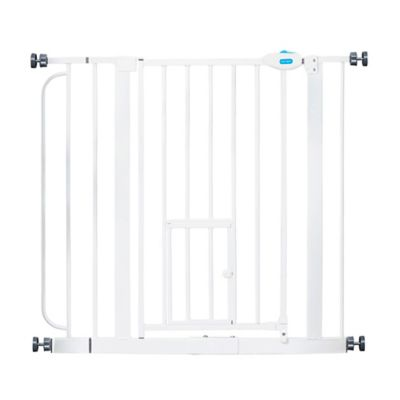 Extra-Wide Walk-Through Gate in White