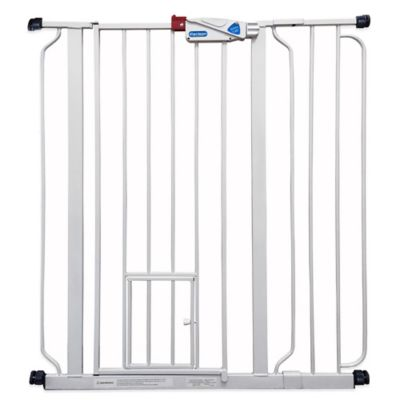 Extra-Tall Pressure-Mount Walk-Through Pet Gate in White
