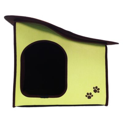 Penn-Plax® Dog's Life™ Home and Travel Pet House with Slope Roof in Green