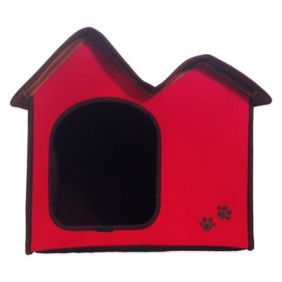 Penn-Plax® Dog's Life™ Home and Travel Pet House with Double Roof in Red
