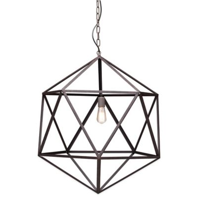 Zuo® Amethyst Ceiling Lamp in Aged Patina