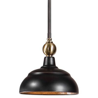 Uttermost Placuna Mini Pendant Lamp in Pacific Bronze