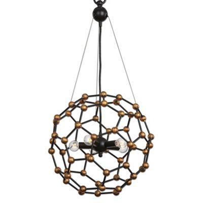 Uttermost Molecule 5-Light Pendant Lamp in Oil Rubbed Bronze
