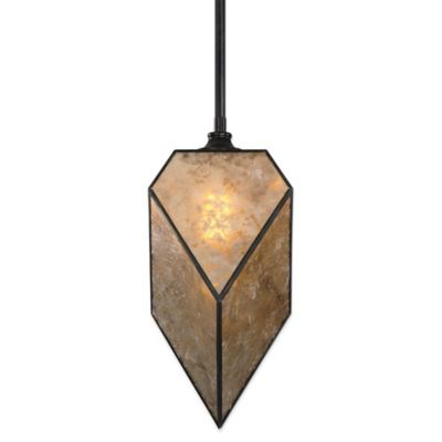 Uttermost Pelham Pendant Lamp in Oil Rubbed Bronze with Antiqued Mica